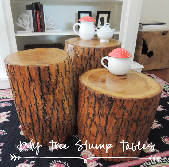 diy-tree-stump-tables